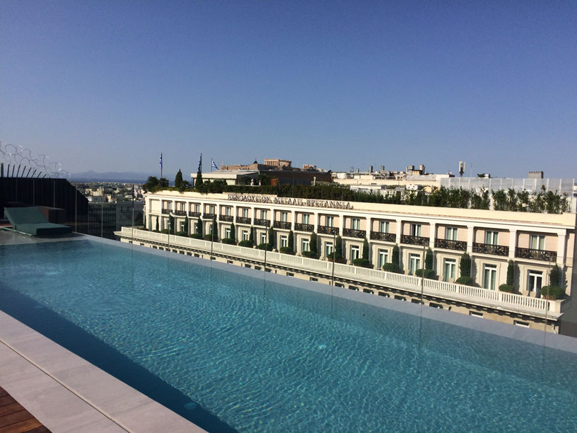 Swimming pool with a view at Athens Capital MGallery