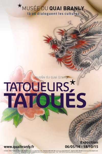 "MQB. Affiche de l'exposition anthropologique _ ""Tatoueurs, tatou"