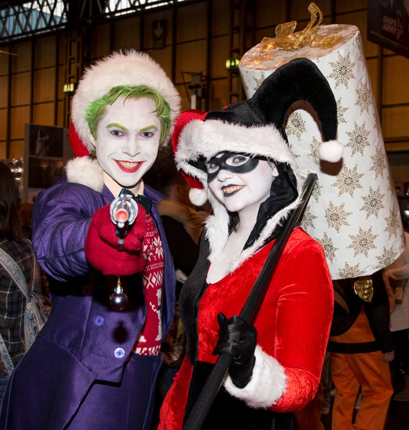 Christmas Joker and Harlequin - b-c-ing-u.com