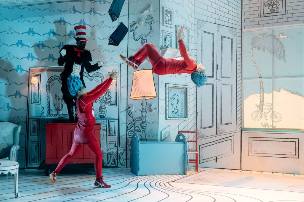 L R Nana Amoo Gottfried Cat Robert Penny Thing and Celia Francis Thing The Cat in the Hat Photography by Manuel Harlan