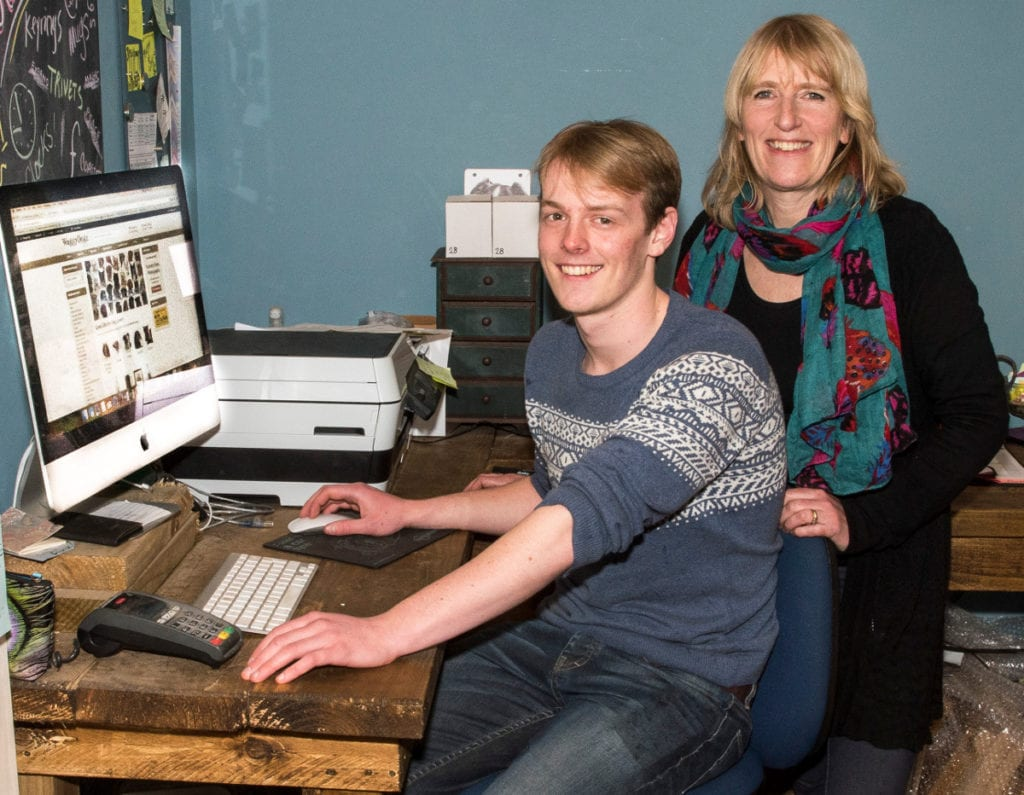 Pic Christines son George creating her website