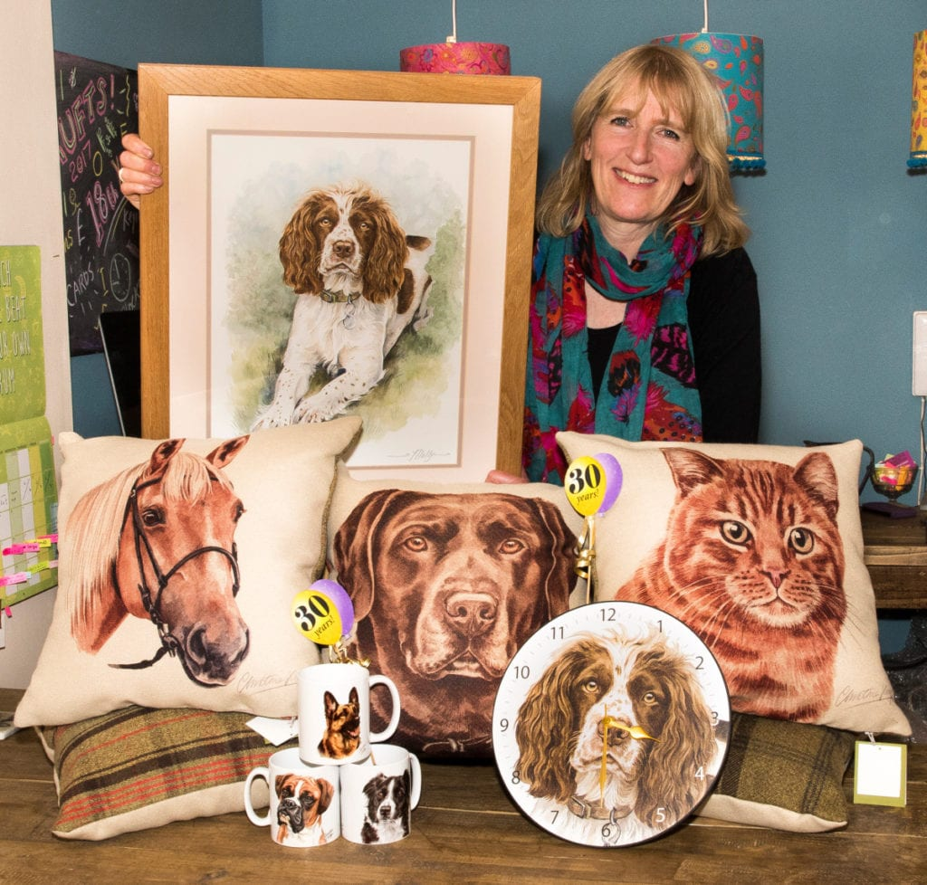 Pic Christine Varley with some of her products