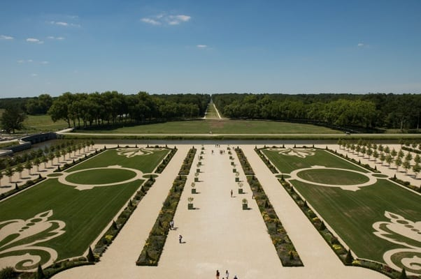 Chambord terrace and gardens