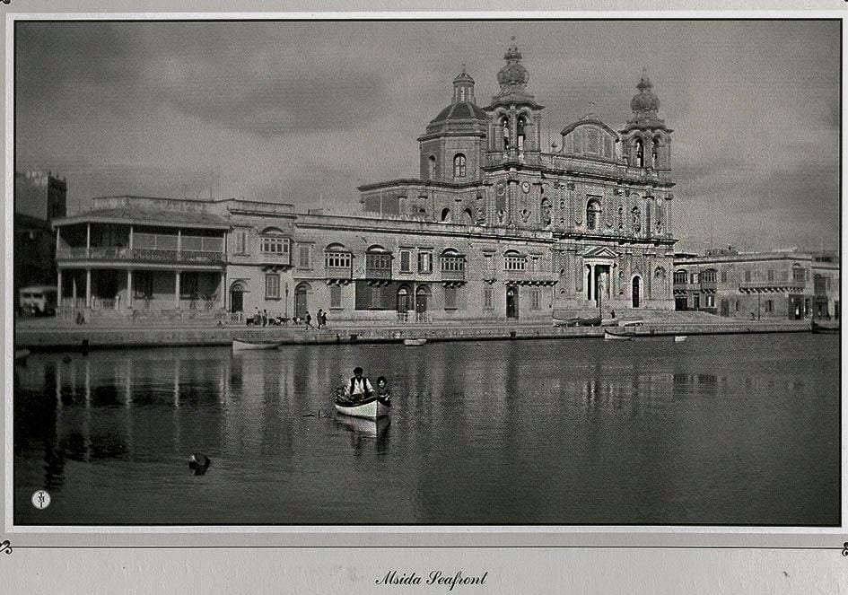 MalDia The Maltese frejgatina in an old picture of Msida Creek a creek that was later transformed by land reclamation and nowadays the sea ends in front of the church