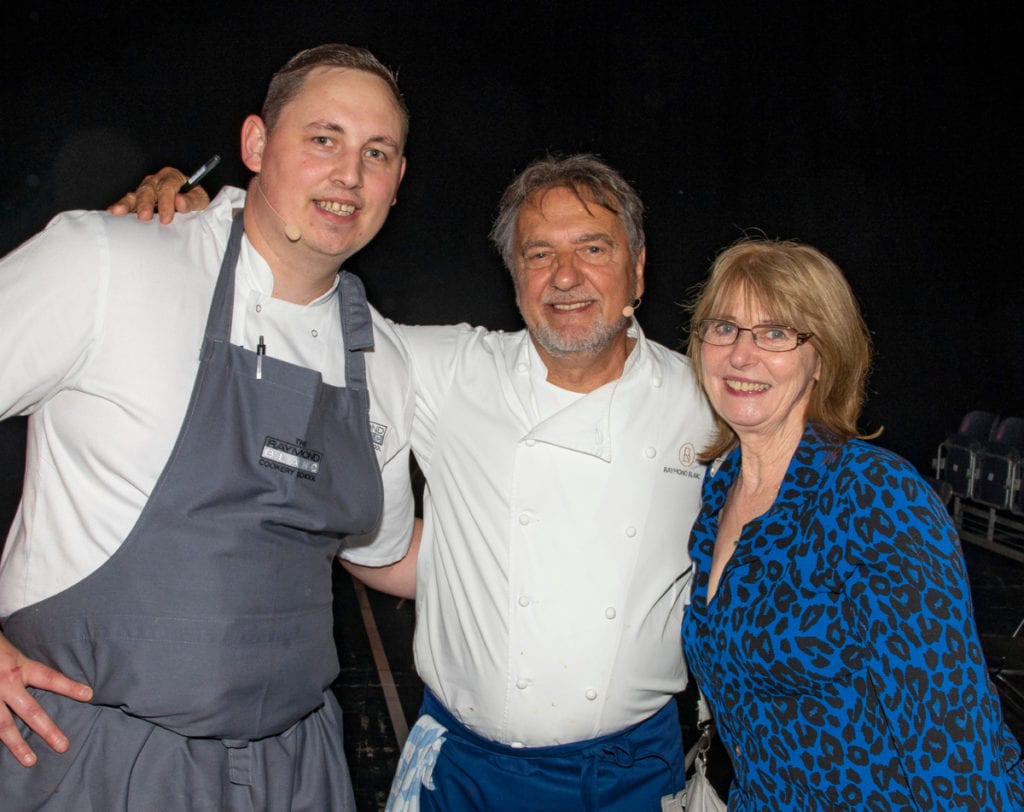 Pic Ann Evans gets to chat with Raymond Blanc and Michael John