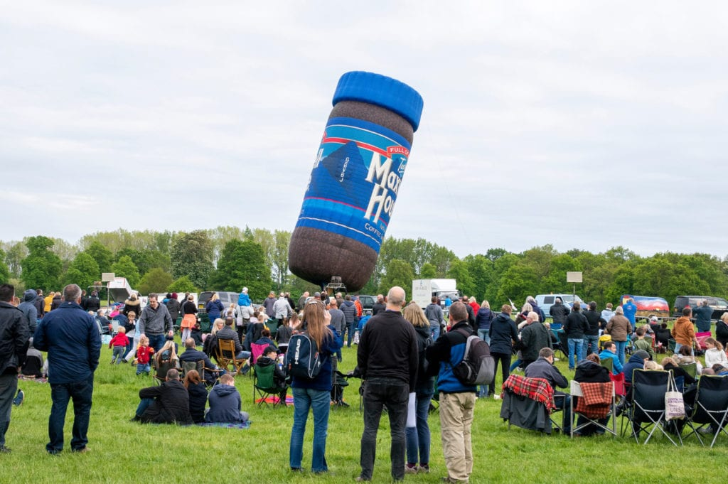 Pic A coffee jar hot air balloon
