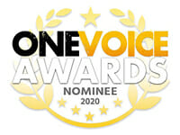 one voice awards logo 2020