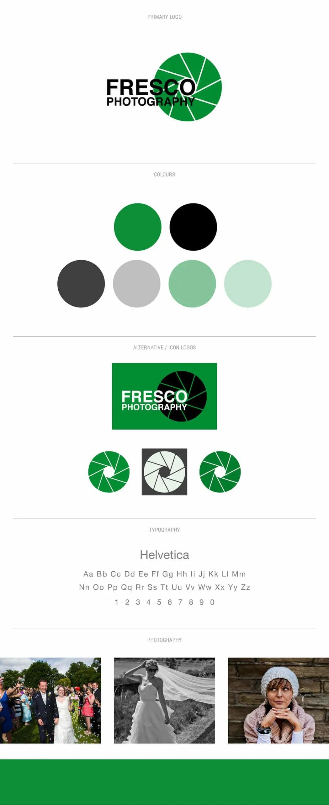 Fresco Photography brand board.