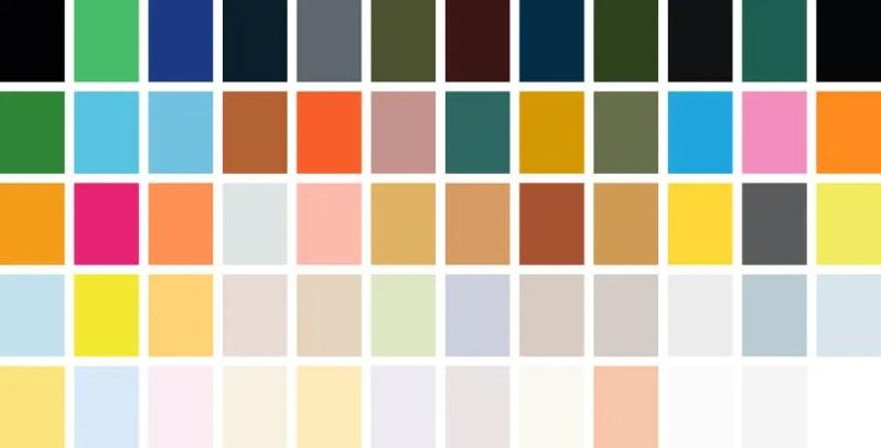 voiceover branding colour palettes
