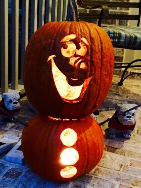 Amanda Duncan_Pumpkin Olaf from Frozen