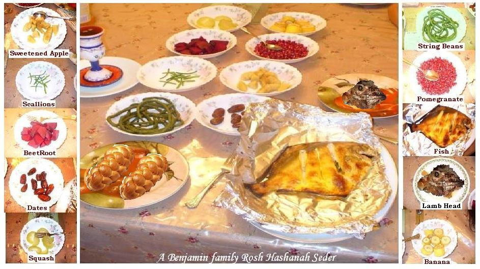 Image result for rosh hashanah festive meal images