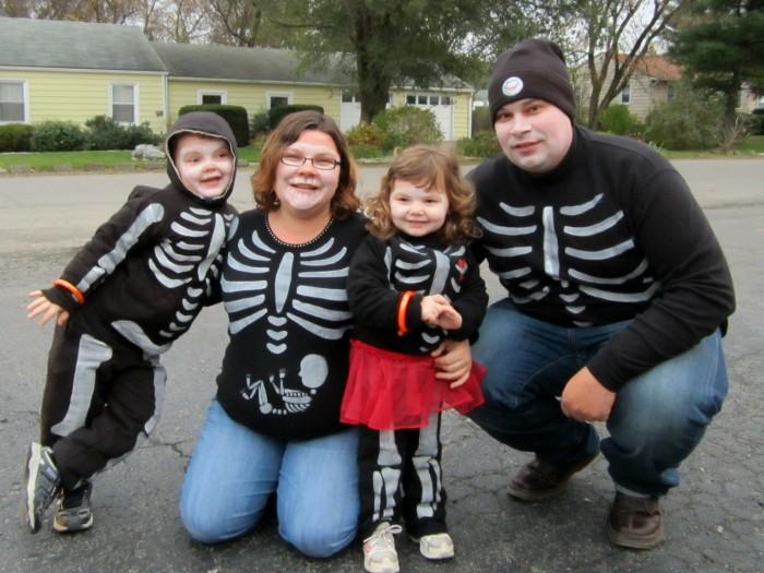 Our DIY Skeleton Family Halloween Costumes