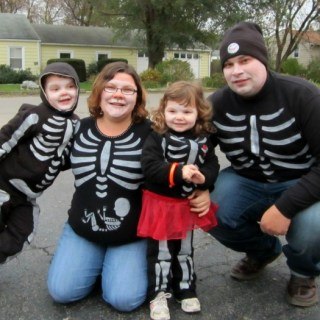 Our DIY Skeleton Family Halloween Costumes