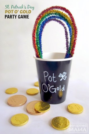 A Simple St. Patrick's Day Party Game - Pot O' Gold Toss - B-Inspired Mama