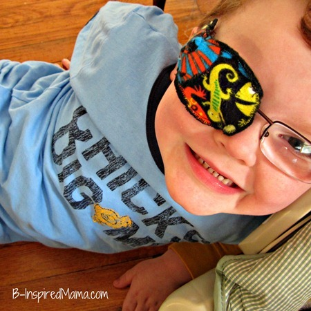DIY Eye Patches for Kids with Amblyopia - at B-Inspired Mama