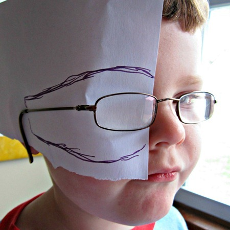 Making a Pattern for DIY Eye Patches for Kids with Amblyopia