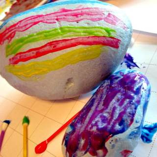 Painted Rock Easter Eggs at Family Sponge