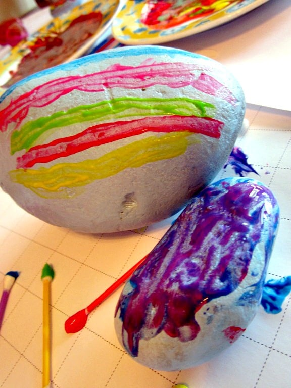 Painted Rock Easter Eggs from B-InspiredMama.com