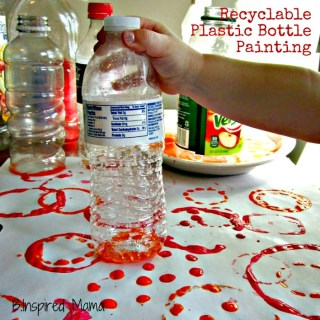 Plastic Bottle Print Paintings