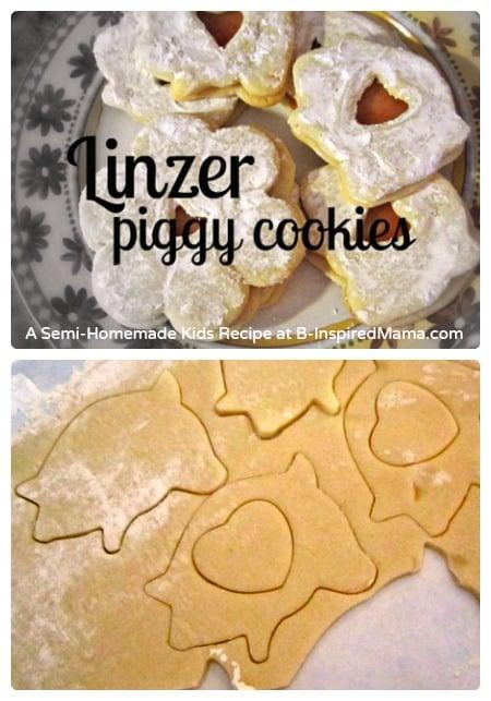 Kids in the Kitchen – Semi-Homemade Linzer Piggy Cookies