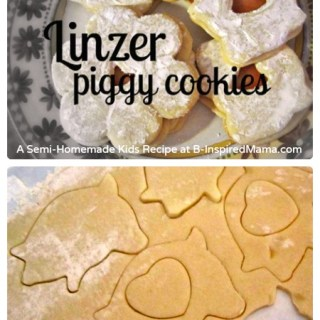 Kids in the Kitchen – Semi-Homemade Linzer Piggy Cookies