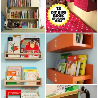 DIY Wall Book Display + 12 More Kid's Book Storage Ideas