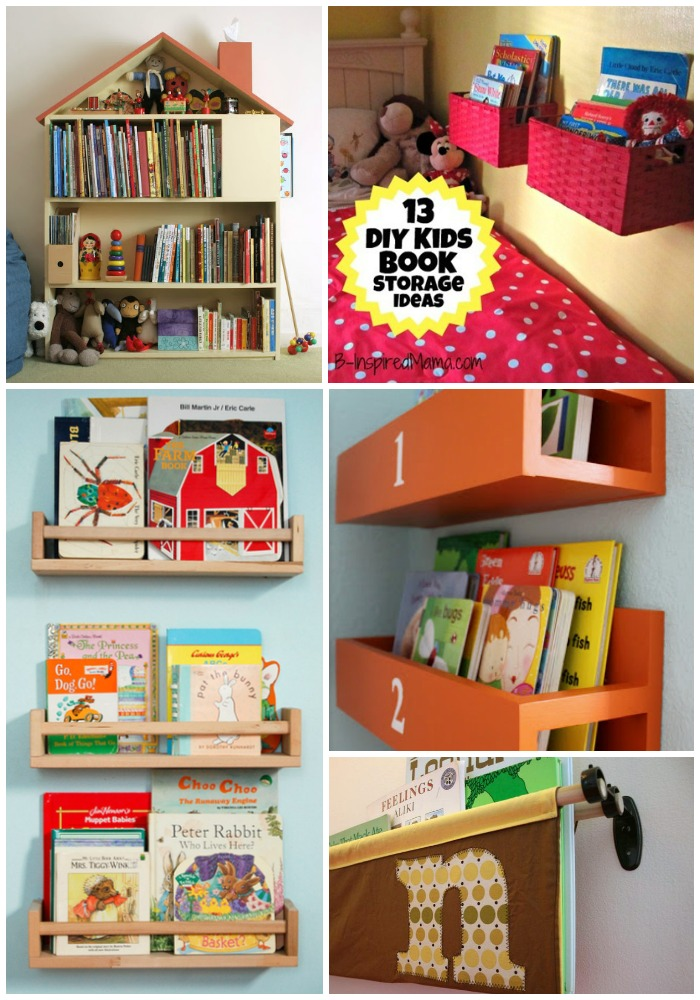 DIY Wall Book Display Ideas at B-Inspired Mama