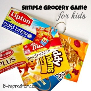DIY Grocery Game for Kids