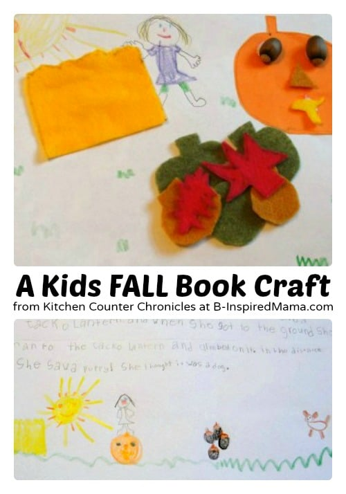 A Kids Fall Book Craft from Kitchen Counter Chronicles at B-Inspired Mama