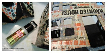 Making A Mod Podge Haunted House Kids Craft for Halloween at B-Inspired Mama