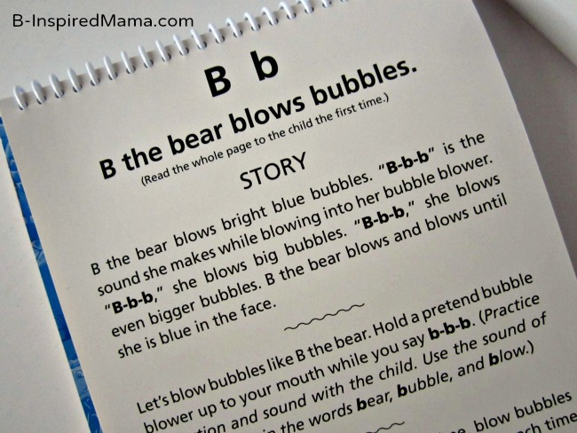B is for Bubble Blowing Bear Flipchart Page from See Hear Do at B-InspiredMama.com