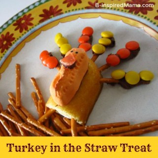 Thanksgiving Snack for Kids – Turkey in the Straw