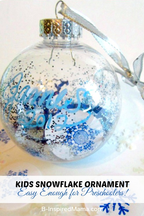 Easy Ornaments for Preschoolers – A Simple Snowflake Ornament