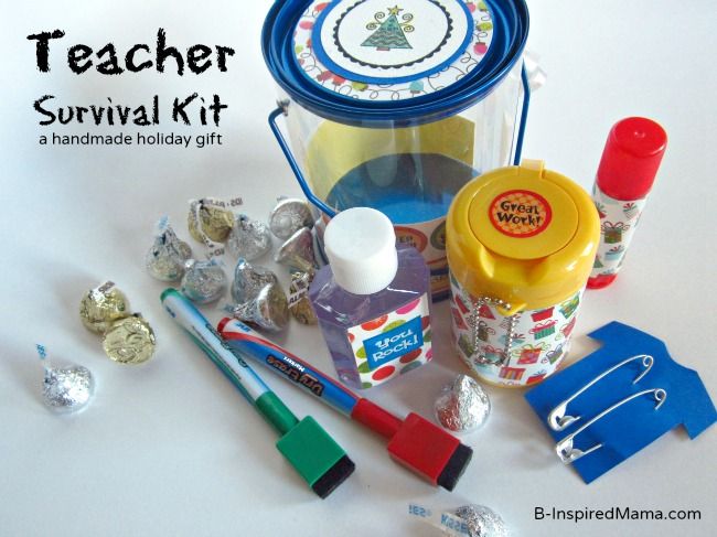 Teacher Survival Kit for the Holidays at B-InspiredMama.com