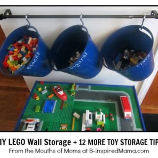 Smart Storage Ideas for Kids Toys + DIY LEGO Storage