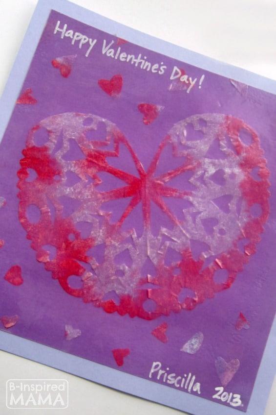 Snowflake Hearts Valentine Craft