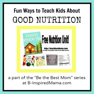 Be the Best Mom: Kids and Good Nutrition