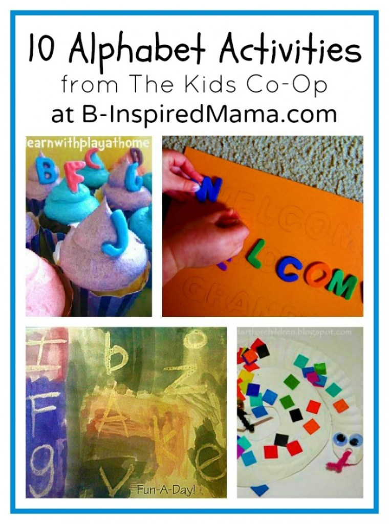 Alphabet Activities from The Kids Co-Op at B-InspiredMama.com