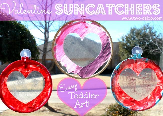 Toddler Suncatcher Valentine Craft