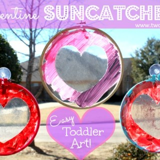 Toddler Suncatcher Valentine Craft