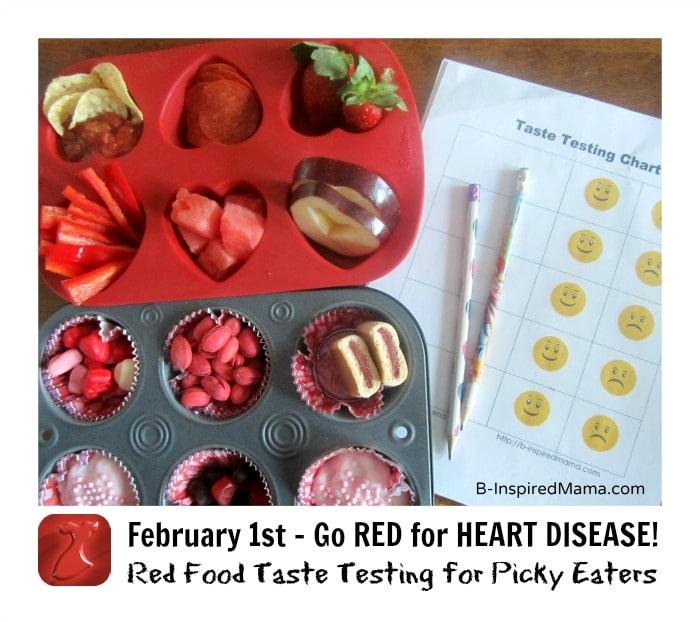 Red Food Taste Test for Heart Disease at B-InspiredMama.com