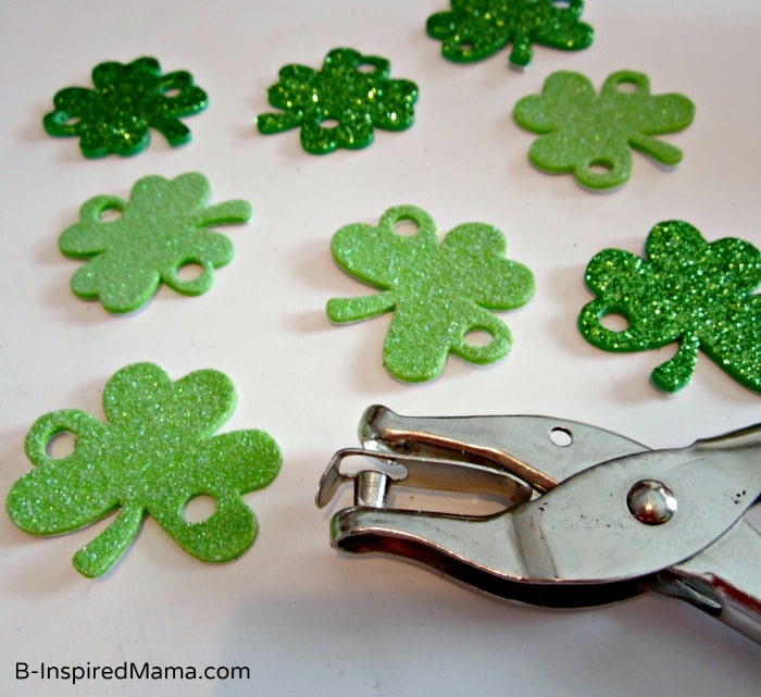 Shamrocks for St. Patrick Craft Crown at B-InspiredMama.com
