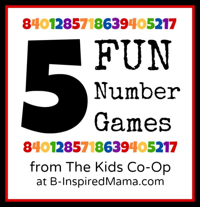 Fun Number Games from The Kids Co-Op