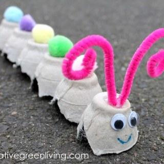 Caterpillar Egg Carton Craft [From the Mamas]