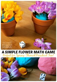 A Fun Spring Flower Math Game for Preschoolers at B-Inspired Mama
