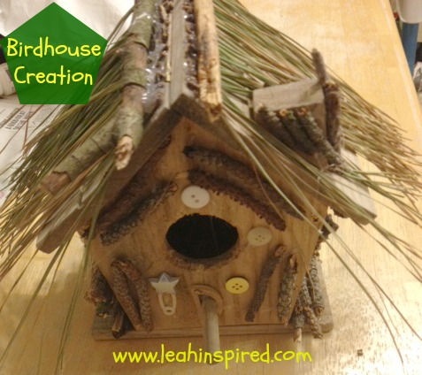 Birdhouse Nature Craft from Leah Inspired at B-InspiredMama.com