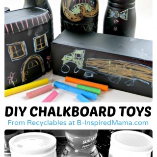 Recycled Craft Chalkboard Toys