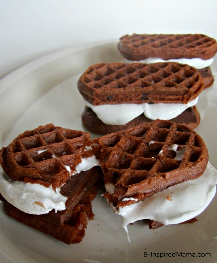 Double Chocolate Waffle S'Mores with Eggo at B-InspiredMama