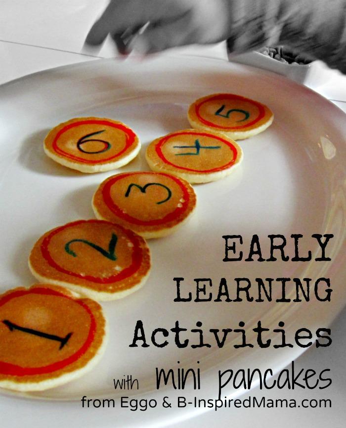 Early Learning with Mini Pancakes [#EggoWaffleOff]