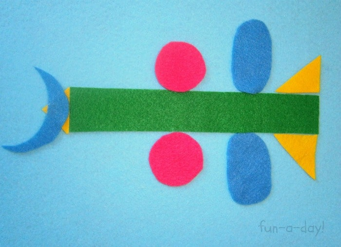 Engineer's Rocketship with Felt Shapes from Fun-A-Day! at B-InspiredMama.com